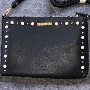 Simon Chang crossbody clutch with pearl detail